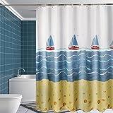 Yulian Duschvorhänge Duschvorhang Verdicken Wasserdichte Mehltau Polyester Tuch Hotel Duschvorhang Senden Haken (B x H cm) Hochwertige Duschvorhänge (größe : 220*200cm)