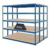 Mega Deal | Set aus 3x Schwerlastregal (Tiefe 45 cm) | Fachlast 200 kg pro Fachboden | Metallregal Kellerregal Lagerregal Werkstattregal Garagenregal |Belastbar mit 1000 kg