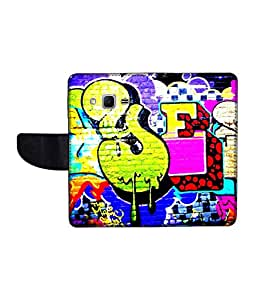 KolorEdge Printed Flip Cover For Samsung Galaxy Win 2 Multicolor - (1476-45KeMLogo11920SamWin2)