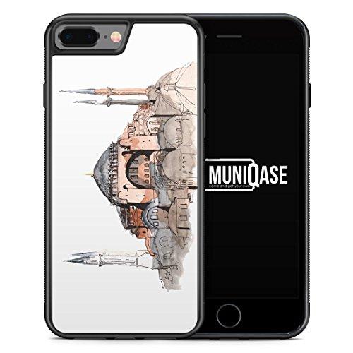 iPhone 8 Plus Hülle SILIKON - Hagia Sophia Ayasofya Istanbul Türkei - Motiv Design Türkiye Cami Islam - Handyhülle Schutzhülle Cover Case Schale