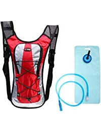 Magideal 5 Colors Outdoor Hiking Cycling Camping Adjustable Shoulder Strap Hydration Pack Backpack With 2L Water...