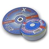 Abracs Lot de 10 disques à tronçonner pour acier inoxydable 125 x 1,6 x 22mm