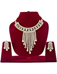 Bollywood Bridal Jewellery Sets For Wedding Girl Necklace Set For Women With Earrings / Diamond Necklaces Set...