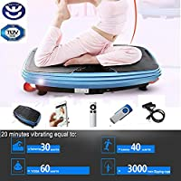 BU-KO Vibration Plate - Super Powerful Upgraded 2500w Motor - Crazy Fit Whole Body Vibration Platform with Bluetooth, MP3 & Remote Control - For Weight Loss & Body Toning
