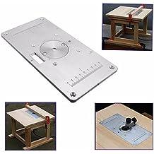 mark8shop 235mm x 120mm x 8mm placa de Inserto de mesa de Fresadora de aluminio para carpintería