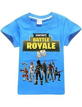 ZIGJOY Fortnite Gaming Gamer Camiseta Unisex Algodón Camiseta Superior para Niños