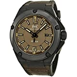 IWC MEN'S INGENIEUR 46MM LEATHER BAND CERAMIC CASE AUTOMATIC WATCH IW322504