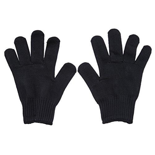 Rrimin 1 Pair Cut Metal Mesh Butcher Anti-cutting Breathable Work Gloves