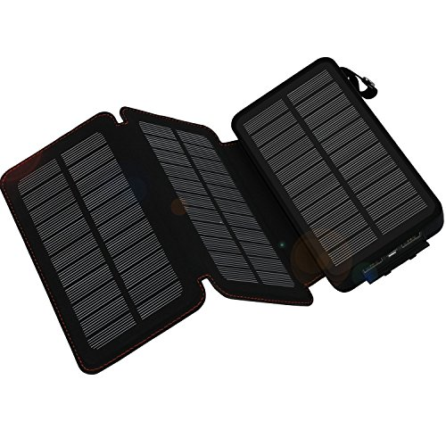 WBPINE Solar Ladegerät Powerbank 24000mAh Outdoor Powerbank Solar Wasserdicht für iPhone, iPad,Tablet,Kamera,Android Smartphones,Bluetooth Lautsprecher usw.