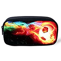 Coloranimal 3D Football Student Canvas Pencil Case Pen Pouch Cosmetic Bags