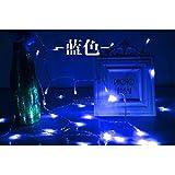 Impermeable LED luces intermitentes luces lámpara pelota bolas de luz de las lámparas de luces decorativas holiday lights,Blue,4 m