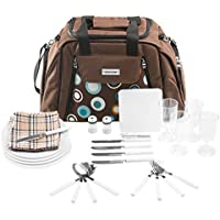 Picnic bolso de transporte + accesorios 29piezas–color a elegir