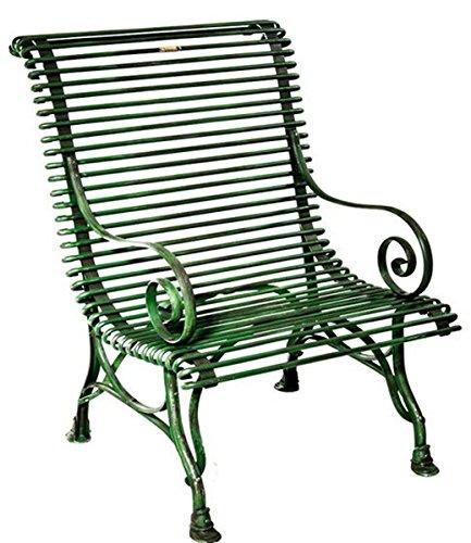 Casa Padrino Gartenstuhl aus Schmiedeeisen - verschiedene Farben - 63 cm x 45 cm x H98 cm - Luxus...