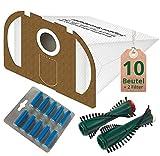 Spar Angebot 10 x Staubsaugerbeutel weiß Filter Set Bürsten und Duft ocean blau passend für Vorwerk Tiger 250 251 252 mit ET 340 EB 350 EB 351