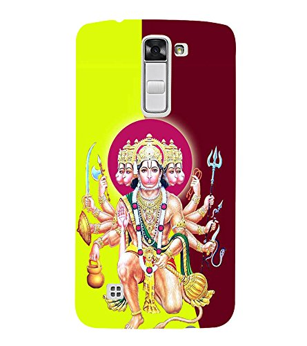 FUSON Lord Panchamukhi Hanuman Seating 3D Hard Polycarbonate Designer Back Case Cover for LG K10 :: LG K10 Dual SIM :: LG K10 K420N K430DS K430DSF K430DSY  available at amazon for Rs.397