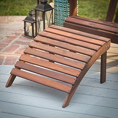 Adirondack Gartenstuhl + Fußstütze, aus exklusivem Mahagoni Hartholz, geölt, Edelstahlverschraubungen von MaximaVida auf Gartenmöbel von Du und Dein Garten