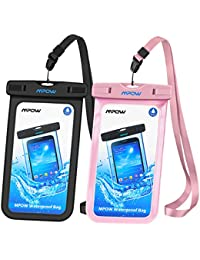 Mpow Waterproof Case[2Packs], IPX8 Watertight Sealed Underwater Dry Bag, Durable Waterproof Pouch Bag with Portable Lanyard for iPhone X/8/7/6s,6s plus,5s,SE and Other Smartphone