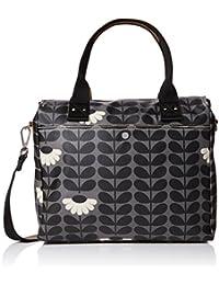 Orla Kiely Women's Zip Messenger Messenger Bag Black (Jet)