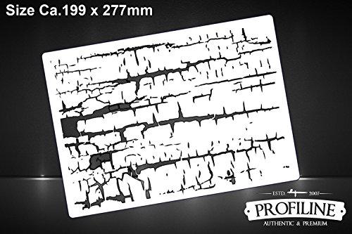 Risse Struktur Dirty Ground Textur FX Airbrush Effekt Schablone Effects Stencil