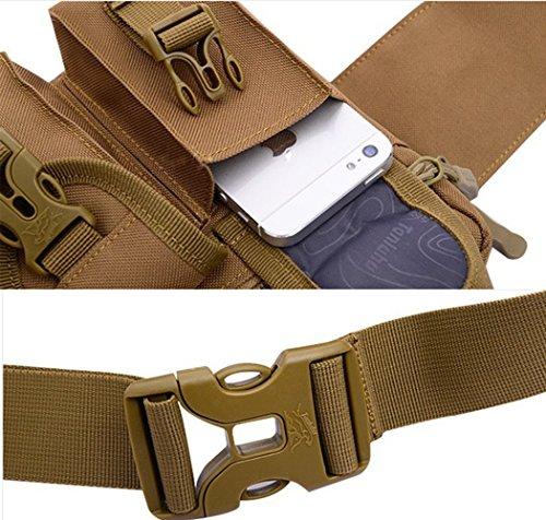 Multifunktion Bauchtasche Gürteltasche Hüfttasche Sports Taschen Outdoor (schwarz) Tarnung 4