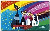 """Fridolin Mehrfarbiges Rosina Wachtmeister bdquo;Under The Rainbow""""-Schneidebrett aus Melamin, Maße: 23,5x 14,5x 0,2cm (12214)."""