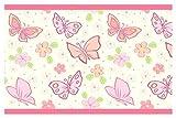 I-love-Wandtattoo Bordo Autoadesivo Farfalle la Camera dei bambinistripes Carta da Parati decoraz