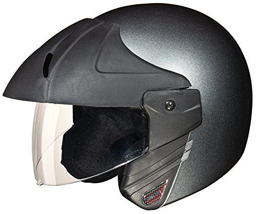 Studds Ninja Concept Economy SUS_NIAECOOFH_GGRYL Open Face Helmet (Gun Grey, L)