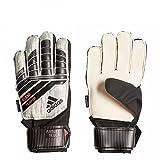 adidas Kinder Predator Fingersave Manuel Torwarthandschuhe, White/Silver Metallic/Black/Solar Red, 3