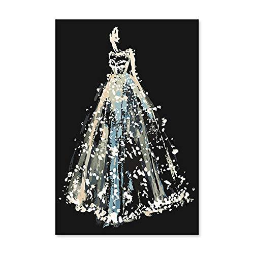 Superluckty Silber Schimmer Brautkleider Digitale ölgemälde hochzeitsgeschenke Malen Nach Zahlen...