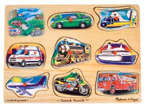 Melissa & Doug - 10267 - Tönendes Puzzle - Fahrzeuge