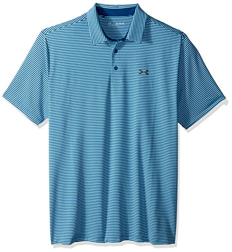 Under Armour Men's Play Off Polo Shirt, Moroccan Blue (488)/Rhino Gray, XXX-Large