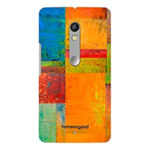 HomeSoGood Bright Wall Painting Multicolor 3D Mobile Case For Moto X Play (Back Cover)