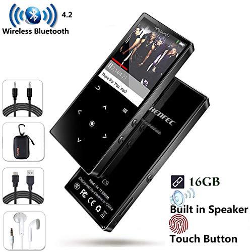 CCHKFEI 16 GB Bluetooth MP3-Player TouchHiFi Musik-Player 1,8 Zoll Bildschirm mit Bluetooth und Lautsprecher, FM-Radio und Voice-Recorder Audio Player für Kinder - Audio Voice Bluetooth
