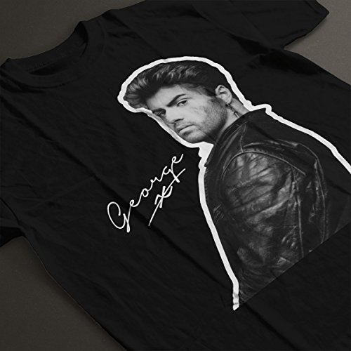 George Micheal Signature Men's T-Shirt Black