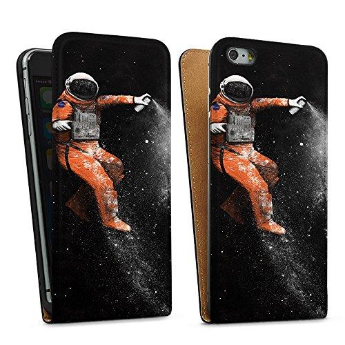 """artboxONE Handyhülle Apple iPhone 5, schwarz Hard-Case Handyhülle """"Astronaut Case"""" - Abstrakt - Smartphone Case mit Kunstdruck hochwertiges Handycover von Florent Bodart Downflip Case schwarz"""