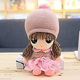 VERCART Bambola di stoffa Bambola di stoffa Little Stuffed Toy Interactive Kids Girl Boy Giocattoli educativi Regalo di compleanno Pink 40cm