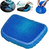 Shadow Securitronics Cushion Seat Flex Pillow, Gel Orthopedic Seat Cushion Pad for Car