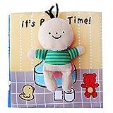 Scrox 1x Libros de Tela para Bebes ilustracion Libro Educativo Bebe 0-1-3 años Bañarse Inglés Libros Blandos Regalos para Bebes Juguete Interactivo (IR al baño)