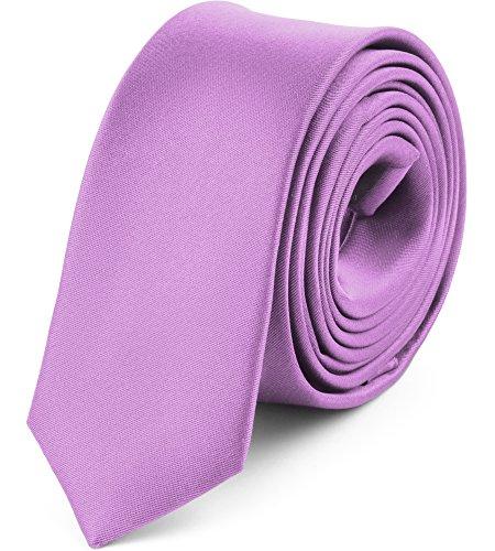 Ladeheid Herren Schmale Krawatte SP-5 (150cm x 5cm, Lila)