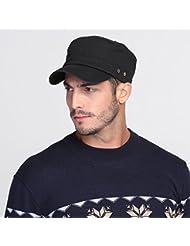 WF:sombrero de las señoras sombrerería del sombrero al aire libre de la moda coreana macho cap cap cap plano simple ocio ( Color : Negro )