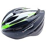 Kamber Dunlop Fahrradhelm inkl. Visier Erwachsene Jugend Herren Damen Skateboard Helm (Schwarz-Grün, L (58-61))