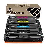ZOOMTEC XXL Toner Kompatibel zu HP 201X CF400X CF403X CF401X CF402X HP 201A für HP Colour Laserjet Pro MFP M277dw M277n M274n M252dw M252n (Farbe: Schwarz, Blau, Gelb, Rot 4 Pack)