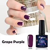 Frenshion 10ML Soak off UV LED Vernis à Ongles Gel Raisin Violet A250