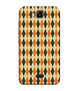 PrintVisa Designer Back Case Cover for Huawei Honor Bee (diamond shaped grey orange lovely )