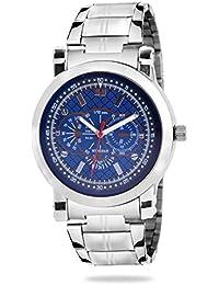 Hupshy Analogue Blue Dial Men's Watch - H-Watch-Blu-Slvr-01