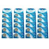 Eunicell Piles CR20165000LC Piles sous blister 3V piles 3V Lithium (Lot de 20)