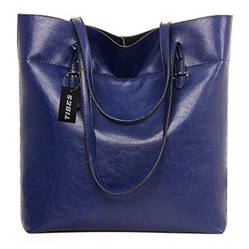 Tibes de luxe de haute qualité PU sacs à main designer pour les femmes Bleu