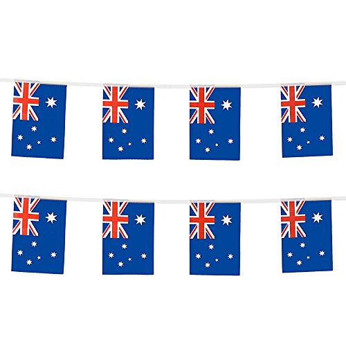 KalaBear International National Land World Pennant Saite Flaggen Banner für Party Events Dekorationen Klassenzimmer Garten Olympische Festival Grand Öffnung Bar Australia Flag