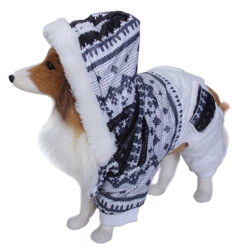 Hund Hoodie Winter Jumpsuit Mantel Jacke Hals Gurt: Ca. 16 Zoll / 40,6 cm