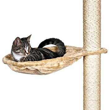 trixie 43541 hammock style seat for cat tree metal frame 40 cm beige  amazon co uk  pet supplies trixie 43541 hammock style seat for cat tree metal frame 40 cm      rh   amazon co uk